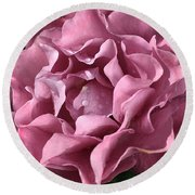 Frilly Rose Round Beach Towel