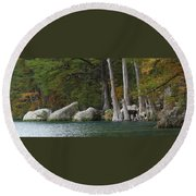Frio River 2 Round Beach Towel