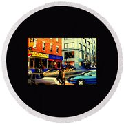 Friperie St.laurent Clothing Variety Dress Shop Downtown Corner Store City Scene Montreal Art Round Beach Towel