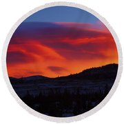 Frisco Sunrise Round Beach Towel