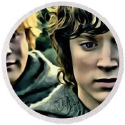 Frodo And Samwise Round Beach Towel
