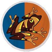 Frog 01 Round Beach Towel