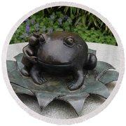 Frog Whisperer Round Beach Towel