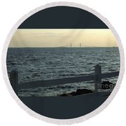 From A Distance Round Beach Towel
