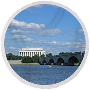 From Across The River Round Beach Towel