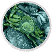 From Another Planet Round Beach Towel
