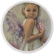 From Heaven... Round Beach Towel by Dorina  Costras
