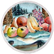 From My Window Round Beach Towel by Mindy Newman