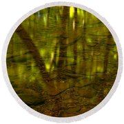 From River Rocks To Forest Reflections Round Beach Towel