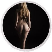 From The Back 1081 .02 Round Beach Towel