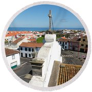 From The Church Tower Round Beach Towel