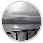 From The Deck Round Beach Towel
