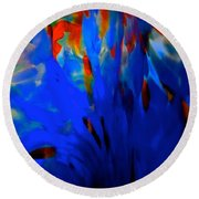 From The Deep Blue Round Beach Towel