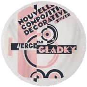 Front Cover Of Nouvelles Compositions Decoratives Round Beach Towel