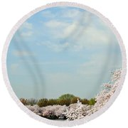 Frontier Airlines Round Beach Towel
