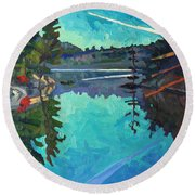 Frood Lake Outlet Round Beach Towel