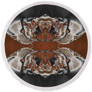 Frost And Woodsmoke 3 Round Beach Towel