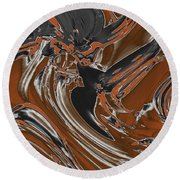 Frost And Woodsmoke  Round Beach Towel