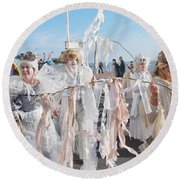 Frost Fair Parade At St Leonards Round Beach Towel