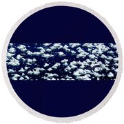 Frost Flakes On Ice - 05 Round Beach Towel