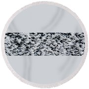 Frost Flakes On Ice - 06 Round Beach Towel