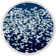 Frost Flakes On Ice - 28 Round Beach Towel