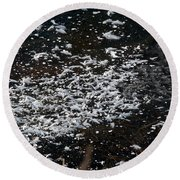 Frost Flakes On Ice - 30 Round Beach Towel