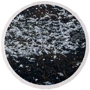Frost Flakes On Ice - 33 Round Beach Towel