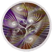 Frost Spirit - Square Version Round Beach Towel
