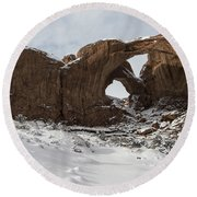 Frosted Double Arch Round Beach Towel