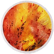 Frosted Fire IIi Round Beach Towel