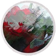 Frosted Hibiscus 2 Round Beach Towel