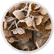 Frosted Hydrangea Round Beach Towel