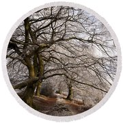 Frosted Path Round Beach Towel