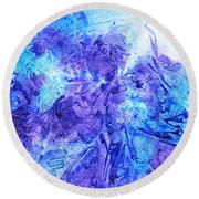 Frosted Window Abstract I   Round Beach Towel