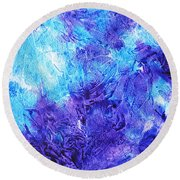 Frosted Window Abstract IIi Round Beach Towel