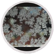 Frosted Window Round Beach Towel