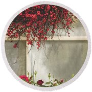 Frosted Windowpane Round Beach Towel