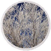 Frosted Wires Round Beach Towel