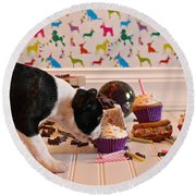 Frosting Feast Round Beach Towel