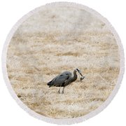 Frosty Dinner Round Beach Towel by Mike  Dawson