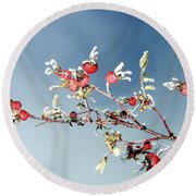 Frosty Morn Round Beach Towel