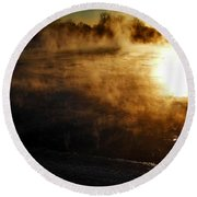Frosty Morning ... Round Beach Towel