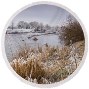 Frosty River Tyne Round Beach Towel