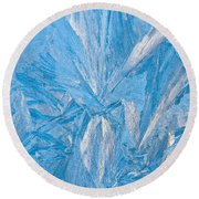 Frosty Window Art Round Beach Towel