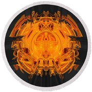 Froth Panel 15 Round Beach Towel