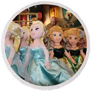Frozen Round Beach Towel