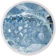 Frozen Fish Of The Northern Forests Round Beach Towel