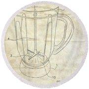 Frozen Margarita Recipe Patent Round Beach Towel by Edward Fielding