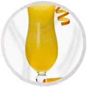 Frozen Orange Drink Round Beach Towel